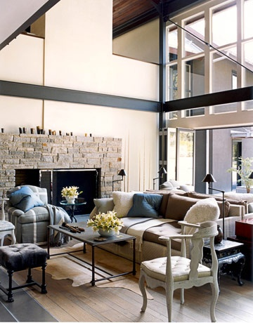 Designer: Jeffrey Bilhuber, Image via:  House Beautiful