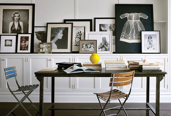Example :Brooke Shields' townhouse. You know she has lots of special moments and images to display.