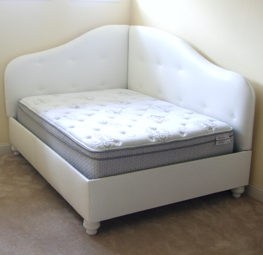 Design your own upholstered daybed with these tips designed 2 twin beds make a queen