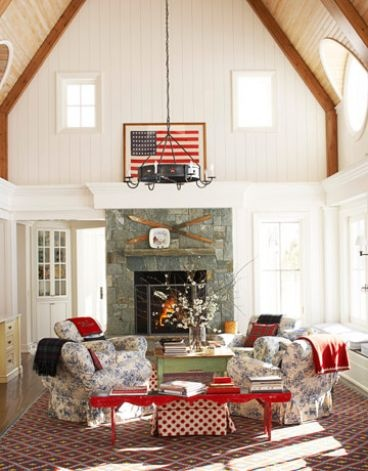 Image via: House Beautiful, Designer: Chipper Joseph | (4th of July, American flag)