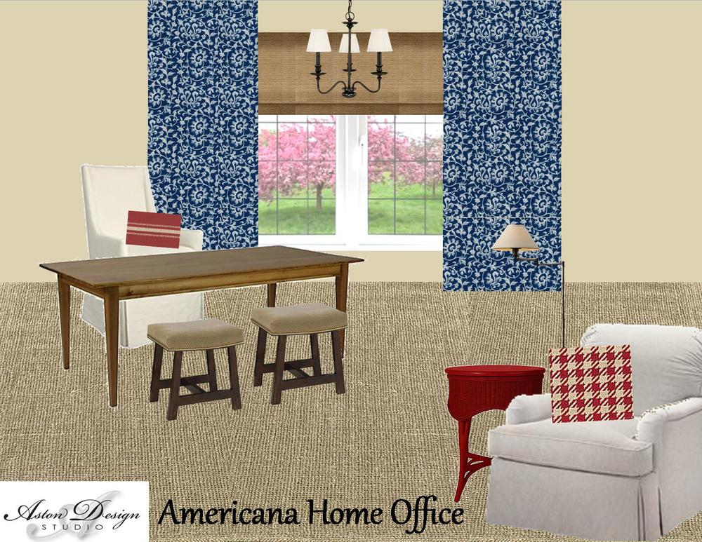 DESIGN PLAN | Made In the USA: An Americana-Styled Home Office