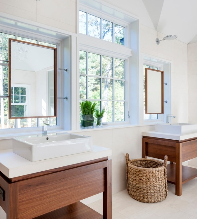 Bathroom Mirrors Over Windows how to hang a mirror on a window | 12 bright, beautiful examples