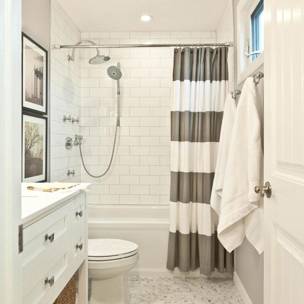 bath with curtain