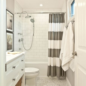 bathroom shower curtains. Designer  Vanessa Francis Is A One Minute Bathroom Remodel Possible Stunning Shower Curtains