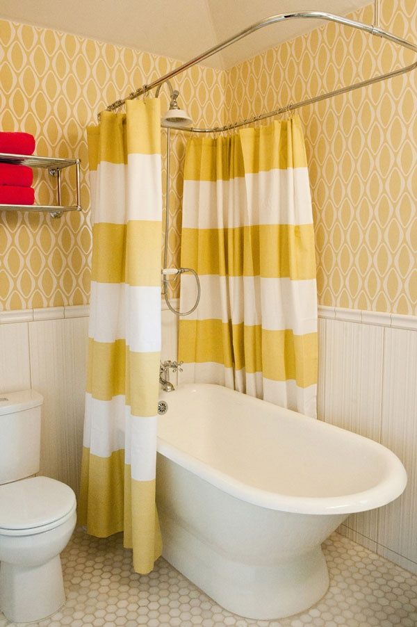 Is A One Minute Bathroom Remodel Possible Stunning Shower Curtains Make It So Designed