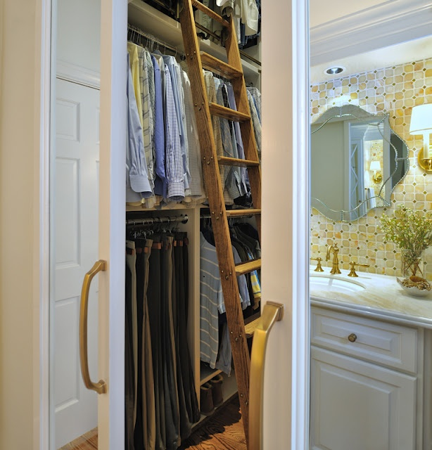 Rolling ladder, closet & bathroom  DESIGNED  by Carla Aston