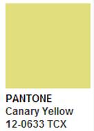 Pantone Canary Yellow