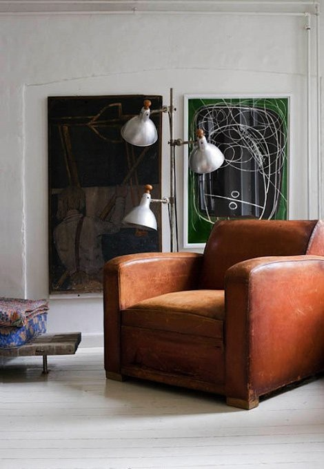 ARTICLE + GALLERY: Vintage Leather Upholstery Will Fit Into Many Types of Interiors