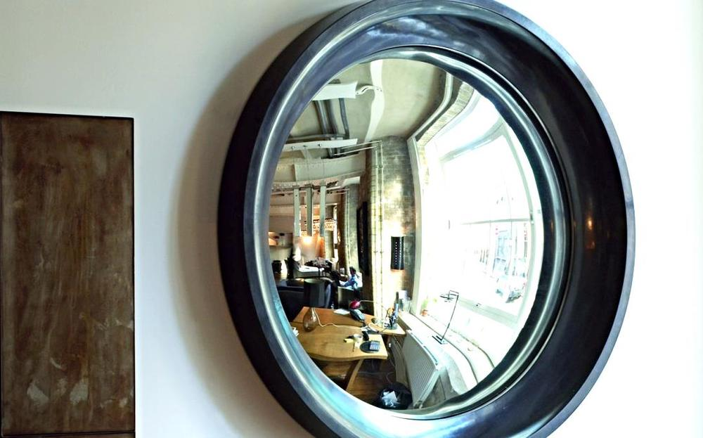 15 interiors turned abstract wall art by a convex mirror for Convex mirror for home