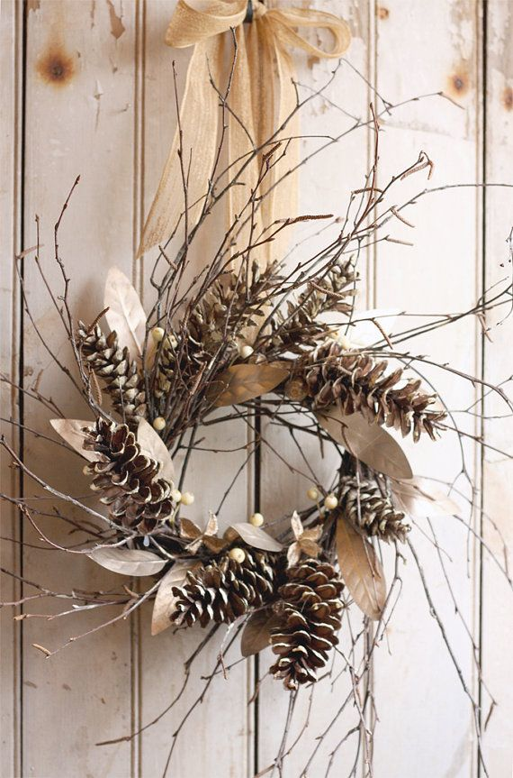a rustic au naturel christmas one thats decorated using only found natural objects and - Rustic Christmas Decorations