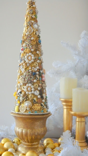 There will be no holding back. This gallery of jewelry Christmas trees is guaranteed to make you think of your Grandmother, smile, and remember...