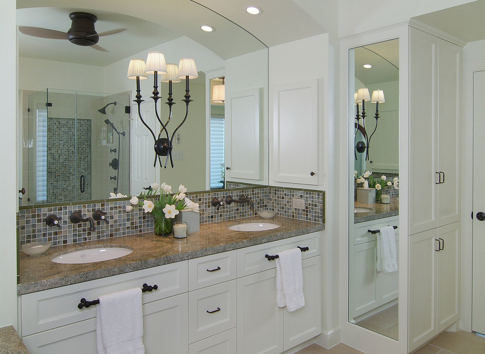 Master Bathroom Remodels Before And After before & after: a bachelor's dated bathroom gets a contemporary