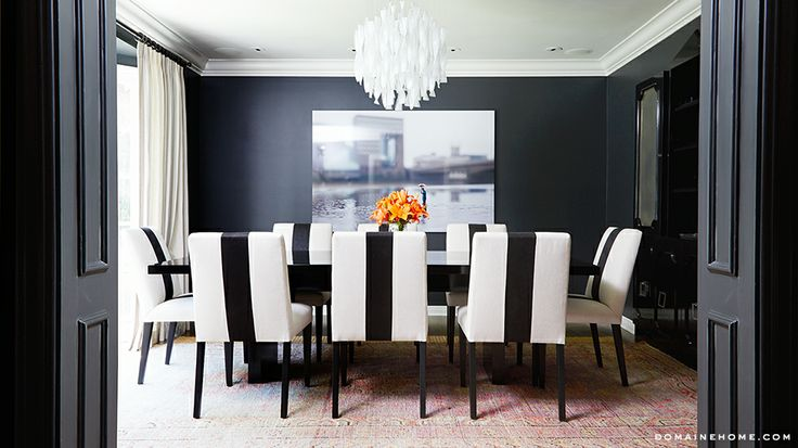 I have seen a lot of black and white as of late, and it looks just as dramatic, appealing and on-trend as ever. And it's perfect for any type of room or style!