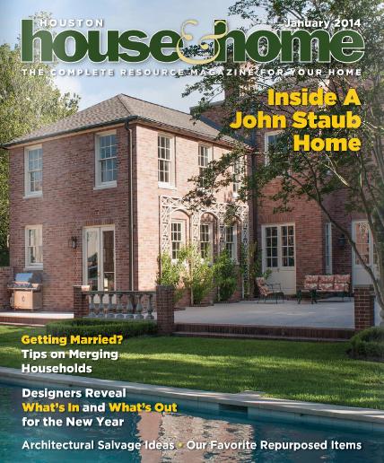 Houston House & Home, Commentary on bathroom design trends, January 2014
