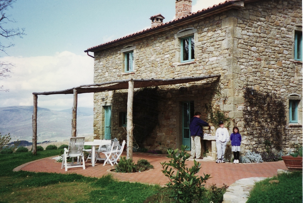 Fireplaces in the kitchen | Tuscan stone house rental on vacation with my family