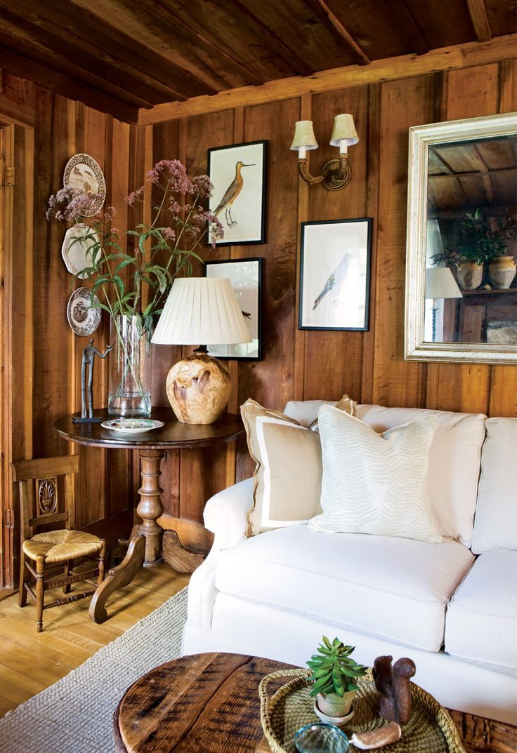 Wood Paneled Den: How To Make A Dark Paneled Room Look Fresh & Light