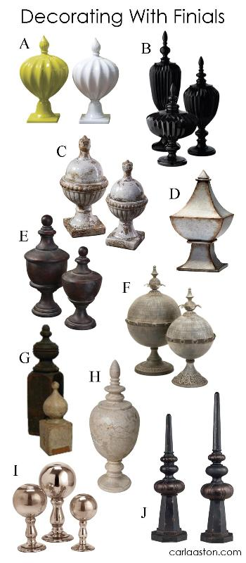 Set that vase aside in favor of a collection of finials. These are exceptionally beautiful!