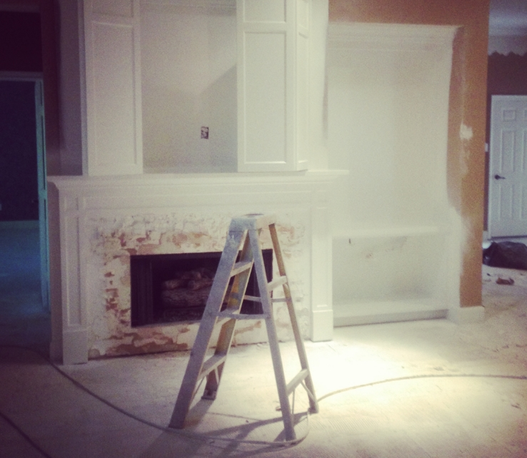 An in-progress dining room remodel by interior designer Carla Aston.