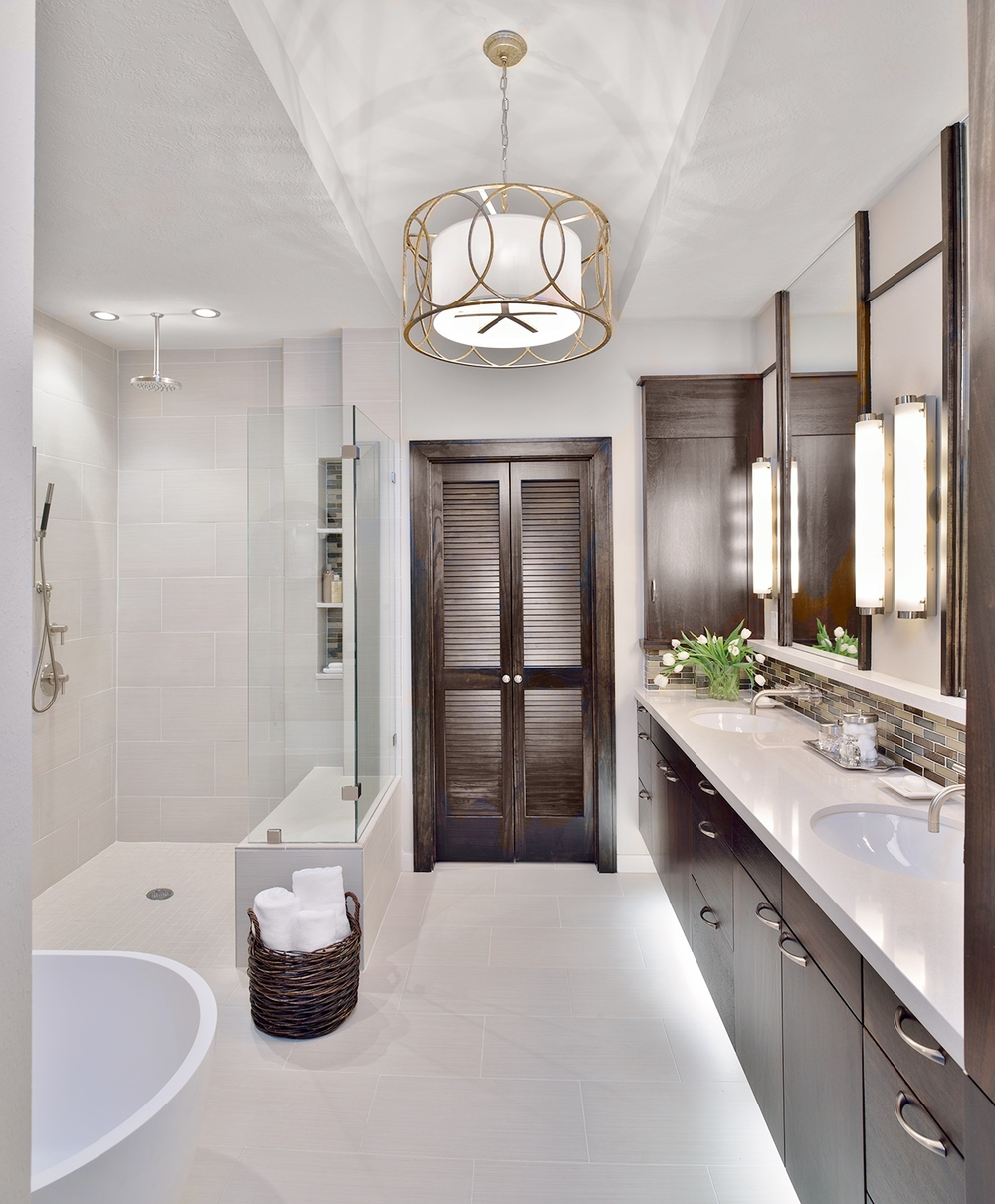 A Builder Grade Bathroom Made Modern, Designer: Carla Aston