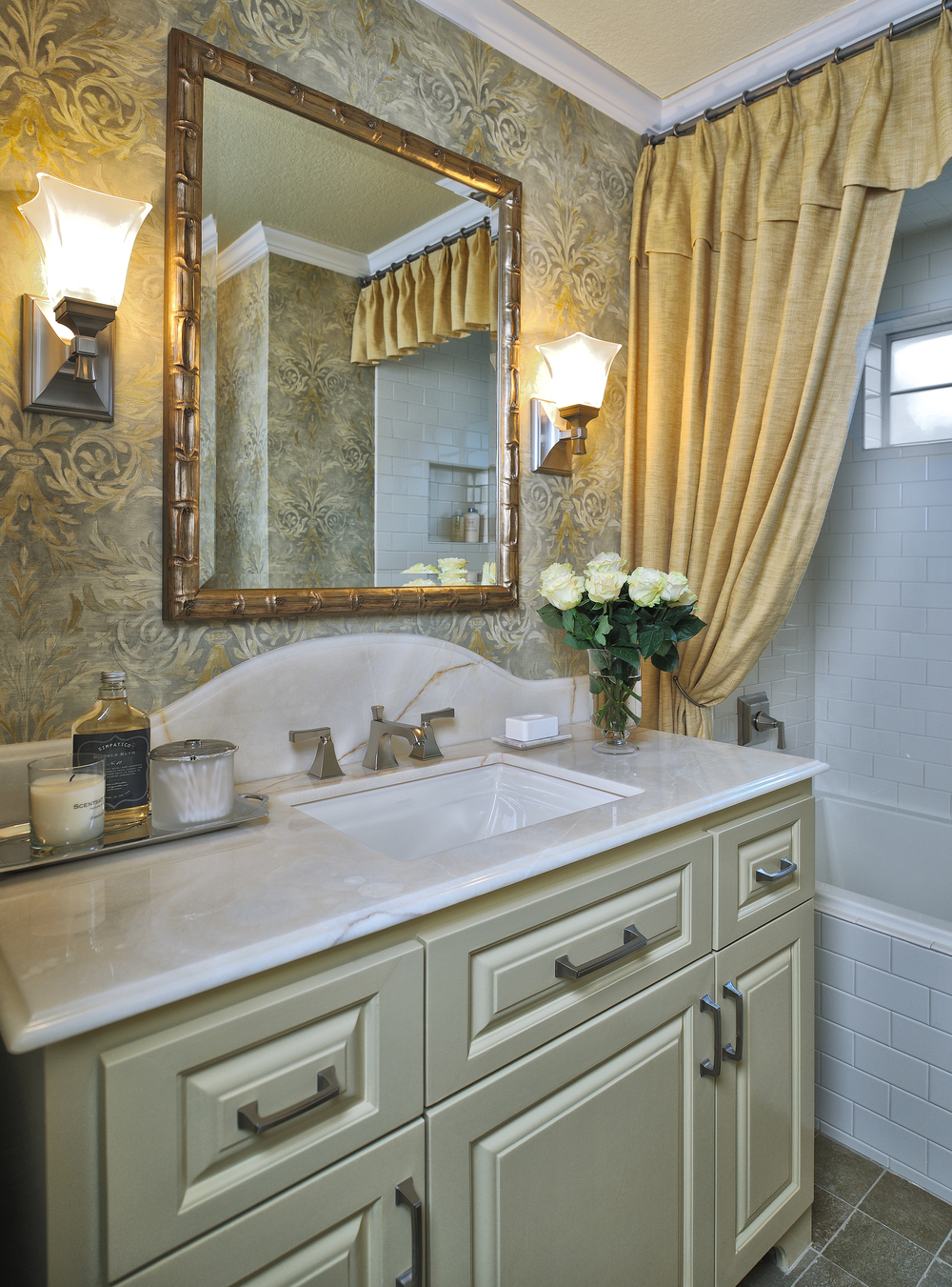 Top 10 bathroom design trends guaranteed to freshen up your home designed for Wallpaper trends for bathrooms