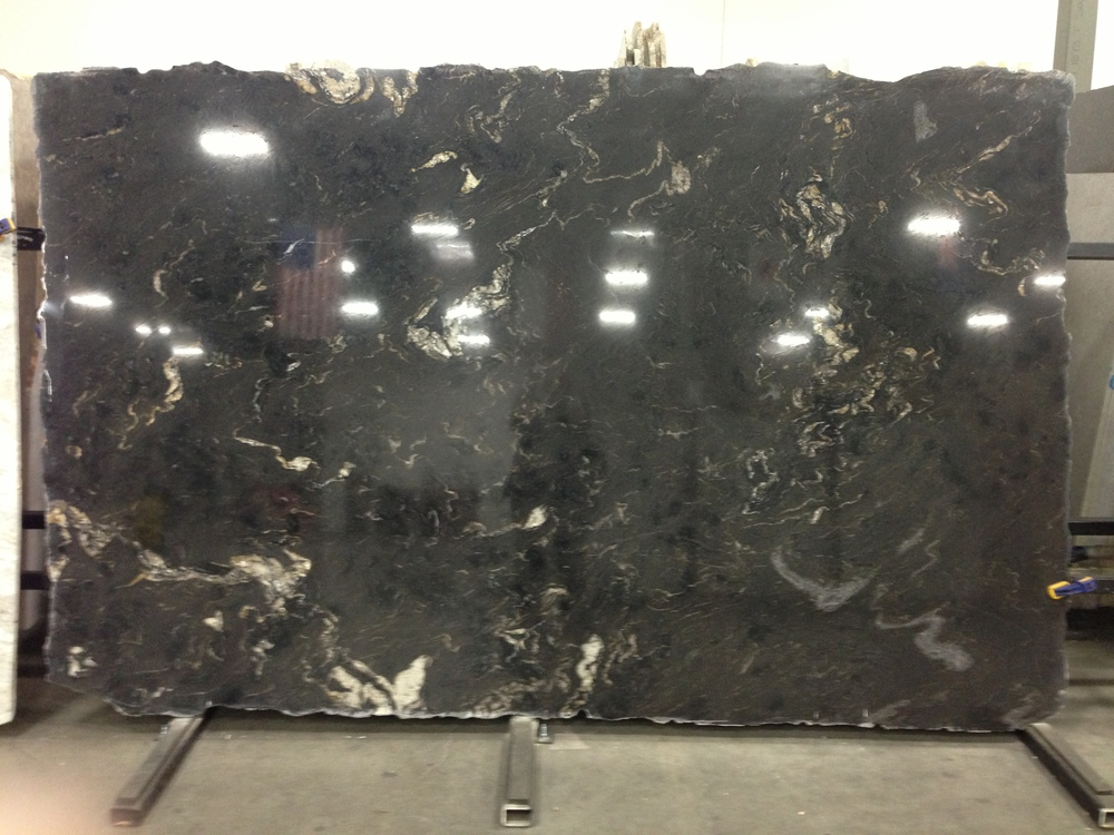 Titanium granite for kitchen countertops