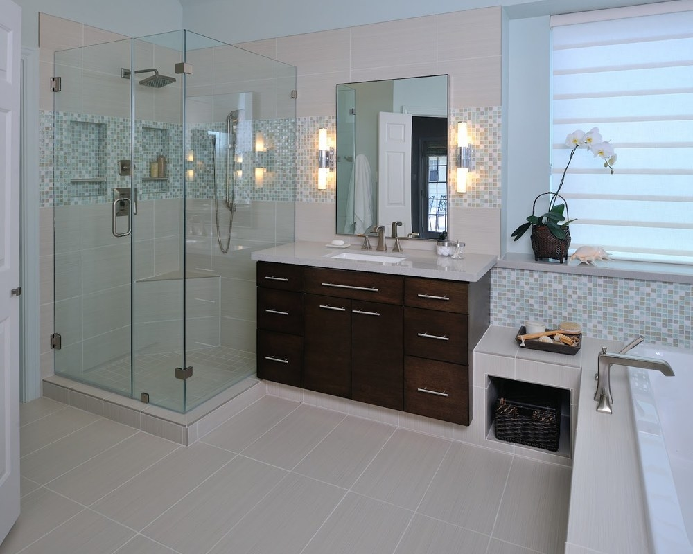 A Matured Bathroom Is Modernized Before u0026