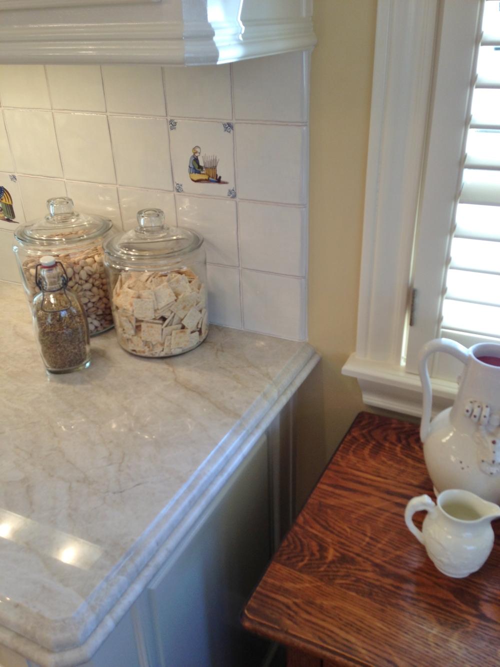 where do you end a kitchen backsplash designed w carla