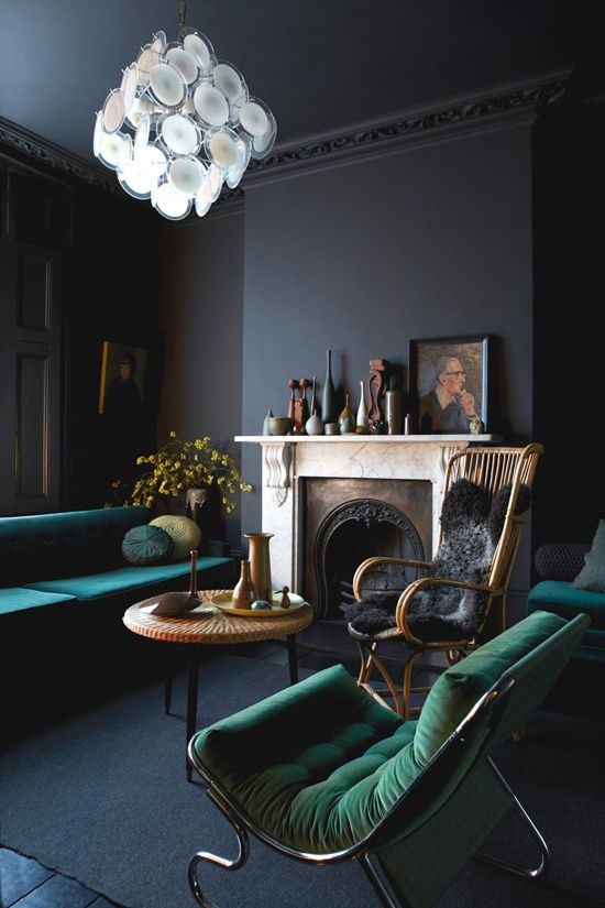 Old painted portraits will add depth and character to any room in your house. They add a sense of history and nostalgia. They add a richness and an extra layer to a room, no matter what the size. | Interior designer: Graham Atkins-Hughes
