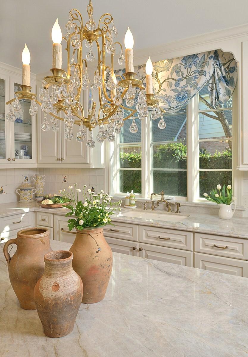 White Kitchen - Chandelier and Window.jpg