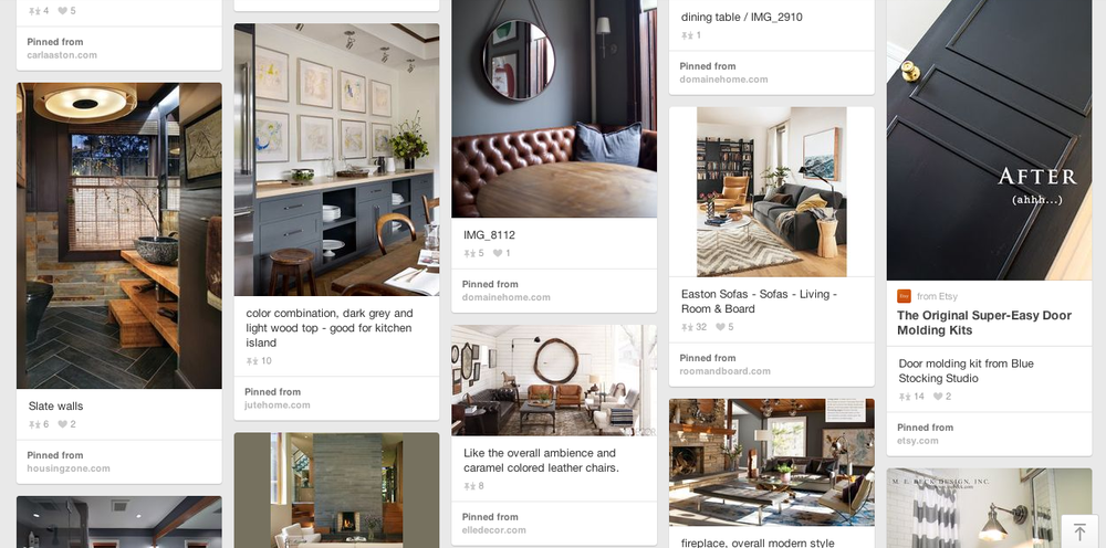 Pinterest benefits more than only interior designers—it's great for interior design clients too. It allows us an easy way to share ideas with them and put together design schemes for their projects.