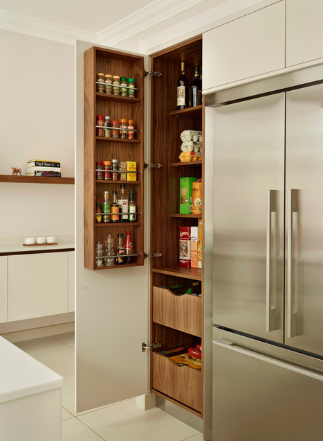 These are the best examples of kitchens featuring a pantry in the cabinetry. | Designer: Roundhouse