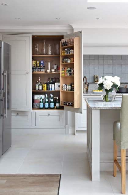 These are the best examples of kitchens featuring  a pantry in the cabinetry. | Designer: Brayer Design