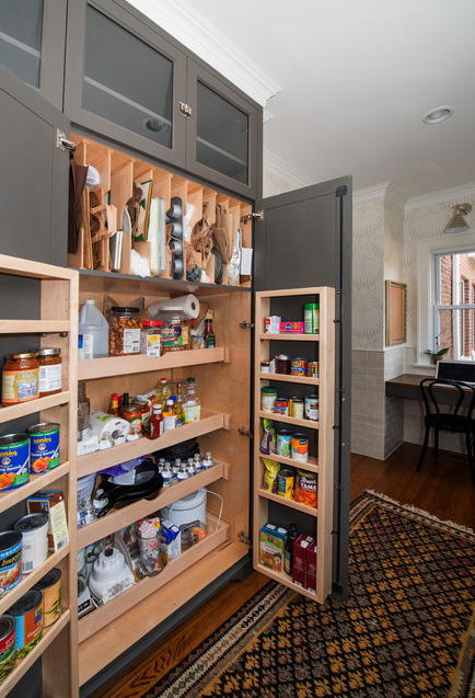 These are the best examples of kitchens featuring a pantry in the cabinetry.  | Designer: Rebekah Zaveloff