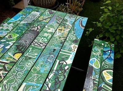 Cool picnic tables | Image via: paradisexpress