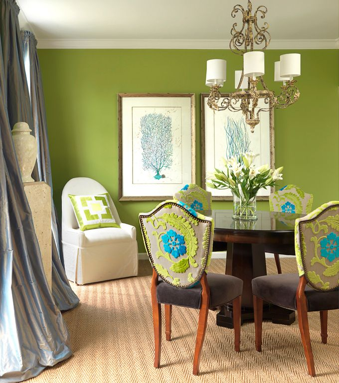 #InteriorDesign Colorful Dining Rooms  | Designer: Denise Fogarty