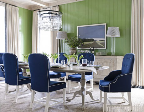 #InteriorDesign Colorful dining rooms  | Designer: Ann Wolf
