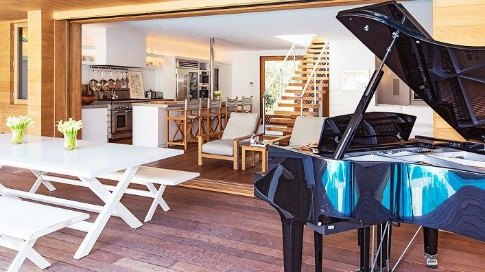 I wonder how many homes have a piano but no piano players? | Homeowner: Pamela Anderson