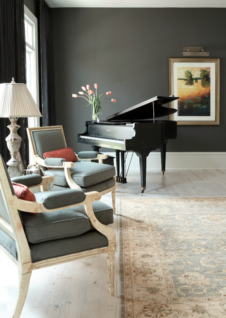 Baby grand piano | Designer: Hirsch Interior Design , LLC