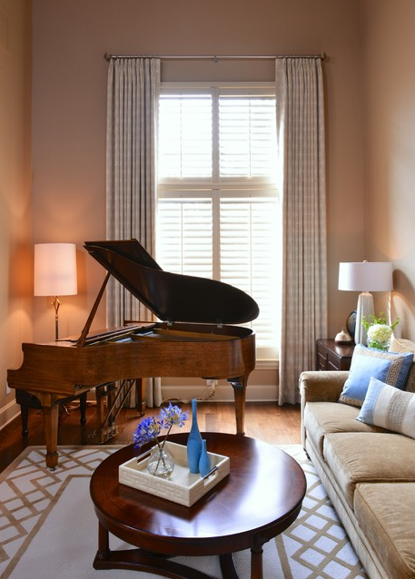 Piano | Designer: Barbara Gilbert Interiors