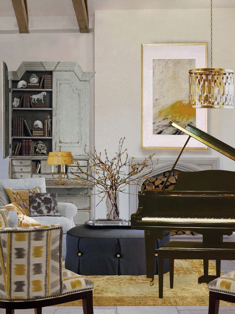 piano  | Designer: Adelene Keelen Smith Interior Design