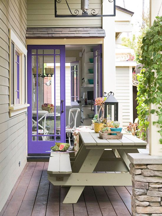 "#DESIGNREFRESH - The Best Interior Design Links of the Week ➤ WHY DOES MY PICNIC TABLE HAVE 18,852 FREQUENT FLYER MILES? WELL... | ""I still love seeing these traditional, vintage-style picnic tables in a backyard. They're inexpensive, durable, have a timeless style, and speak to that part of American culture that goes perfectly with the 4th of July and its family barbecues, road trips, and outdoor fun. """