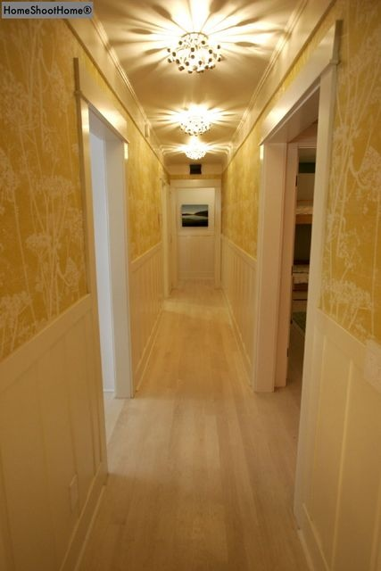 Designer: Ally Kim / Kws: narrow hallway vista decor design decorating ideas diy lighting light