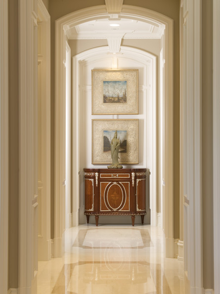 Source: Lonny / Kws: narrow hallway vista decor design decorating ideas diy art
