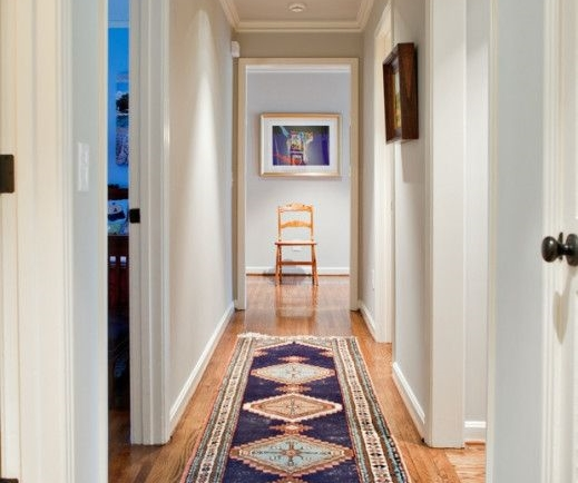 Designer: Dovetail Design Works & The Wills Company / Kws: narrow hallway vista decor design decorating ideas diy