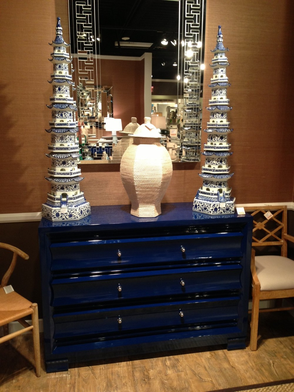 Blue chest by Bungalow 5. | #LVmkt, best, home, decor, furniture, interior design