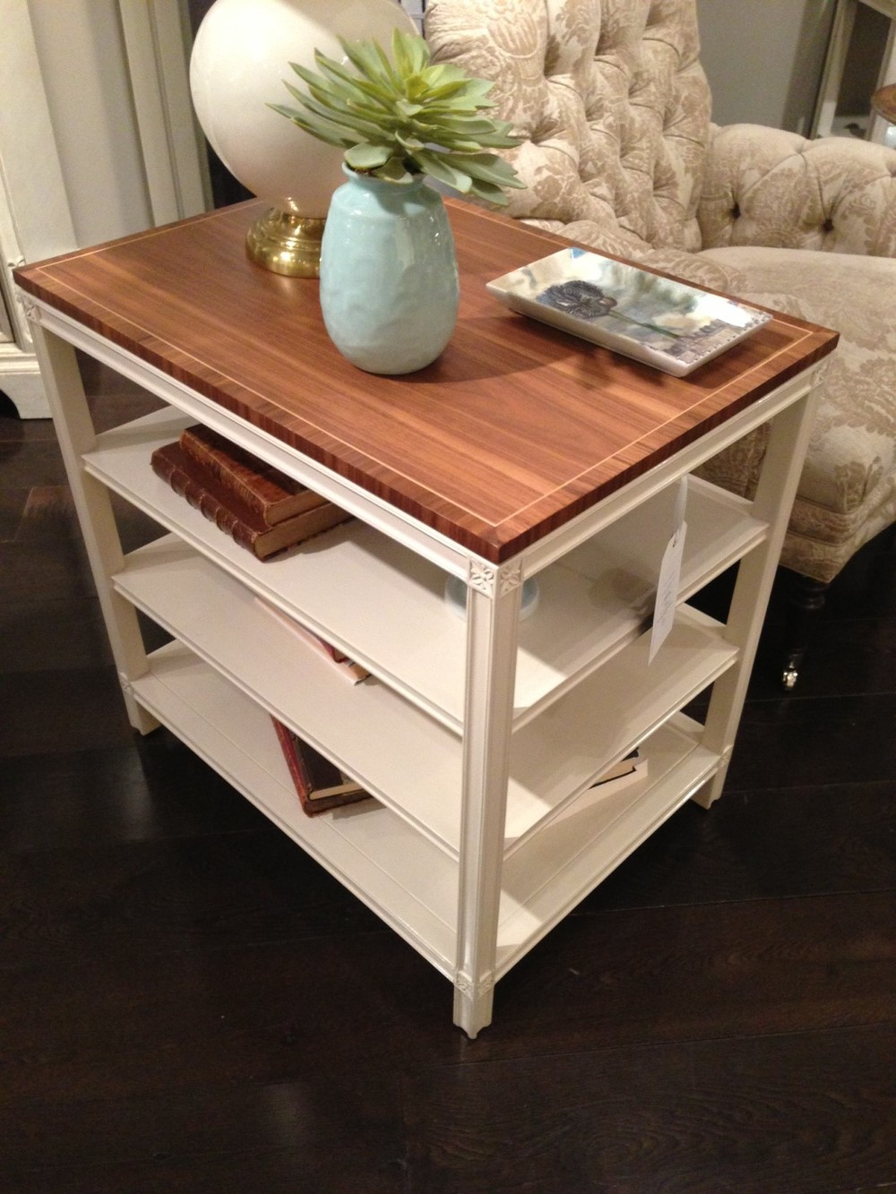 Side table w/wood top by Stanley Furniture. | #LVmkt, best, home, decor, furniture, interior design
