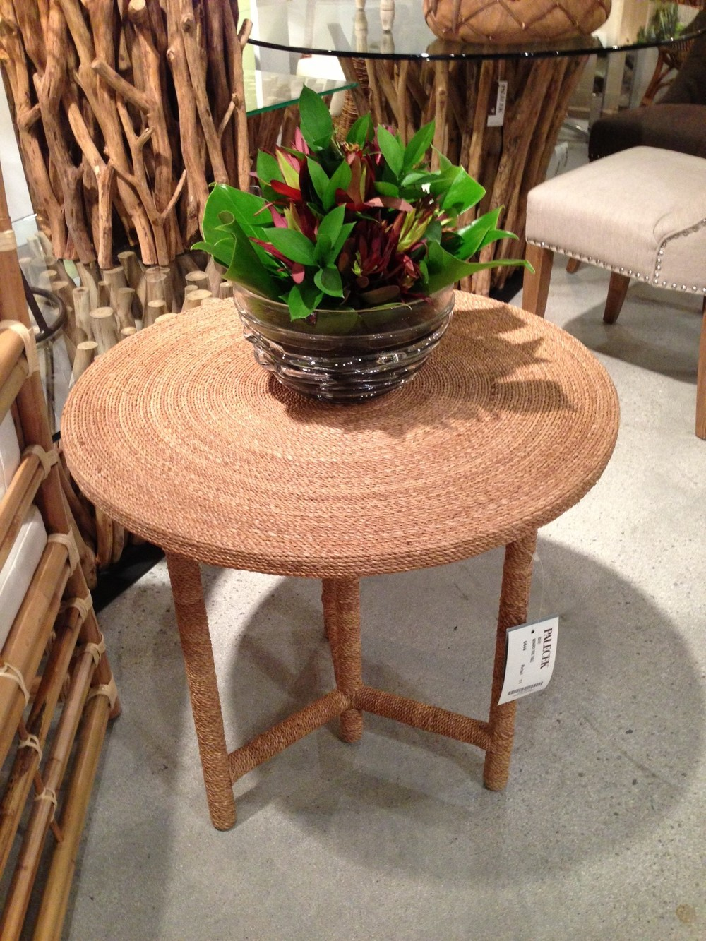 Rope table by Palacek. | #LVmkt, best, home, decor, furniture, interior design
