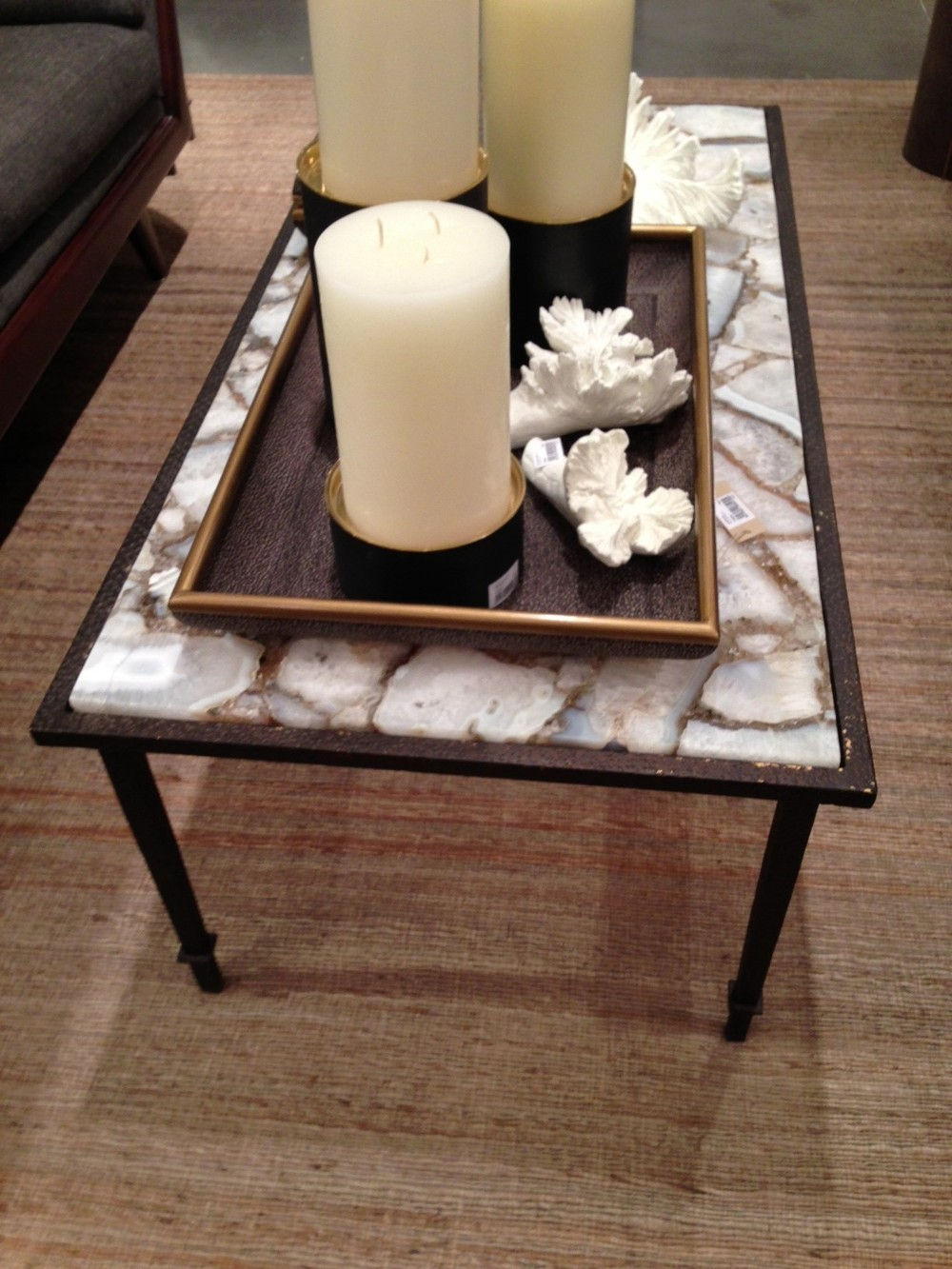 Agate table by A Home and Global Views.  | #LVmkt, best, home, decor, furniture, interior design
