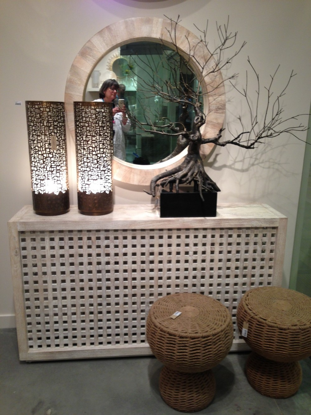 Console with mirror and tree by Studio A. | #LVmkt, best, home, decor, furniture, interior design