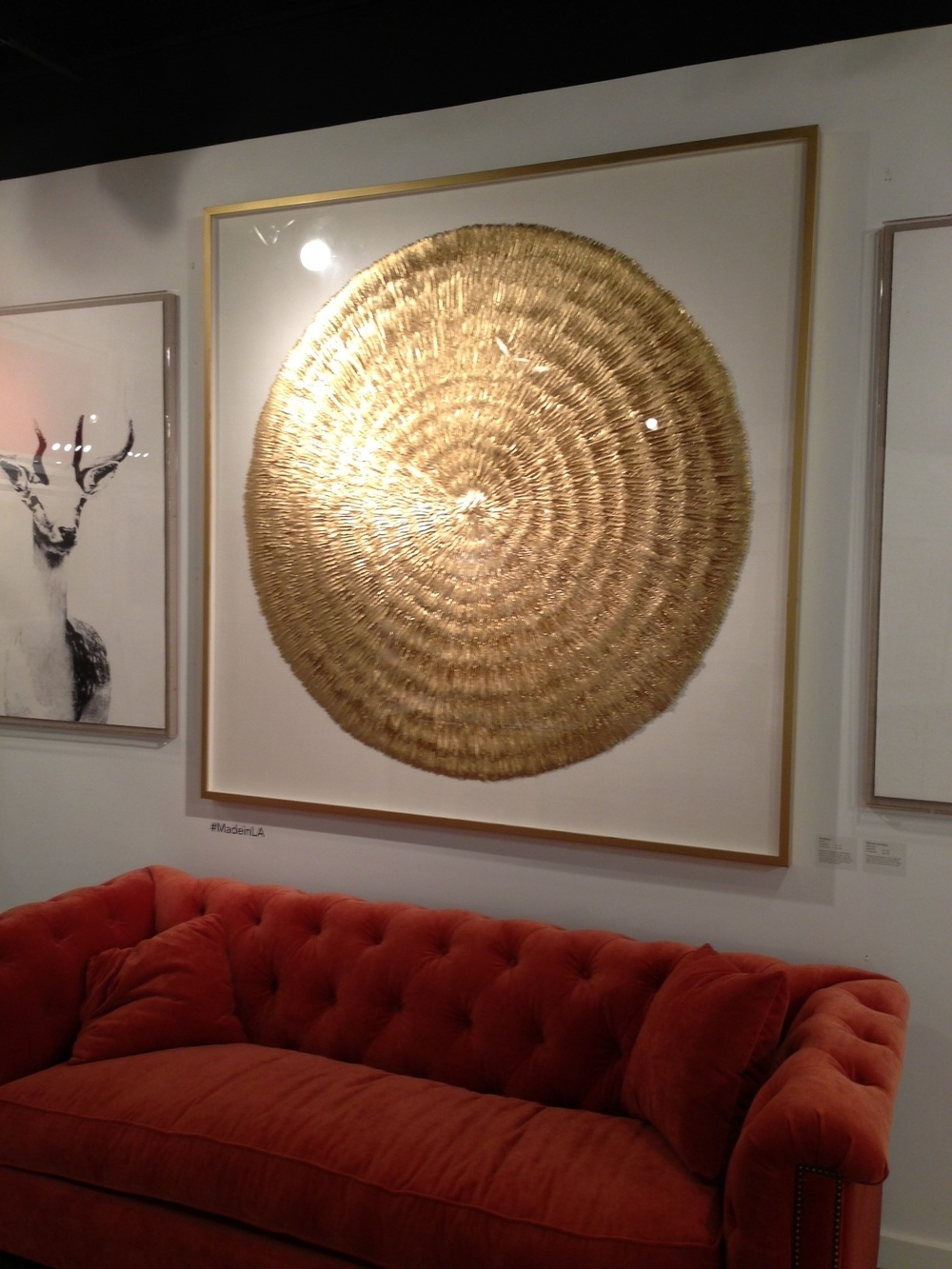 Gold artwork by Natural Curiosities.  | #LVmkt, best, home, decor, furniture, interior design
